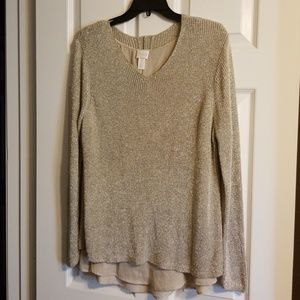 Chicos Metallic sweater